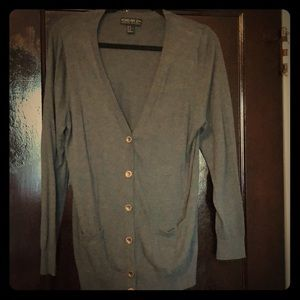 V neck button down cardigan